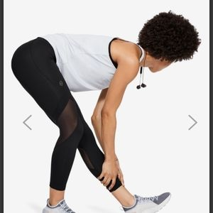 UNDER ARMOUR MESH INSET LEGGINGS W ZIP ANKLES